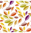 colorful fall leaves seamless pattern vector image vector image