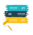 colorful rollerbrushes background for text vector image