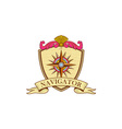 Compass Navigator Coat of Arms Crest Retro vector image vector image