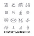 consulting business business meeting business vector image vector image