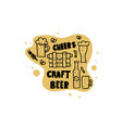 craft beer elements set vector image vector image