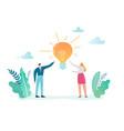 creative idea business innovation imagination vector image vector image