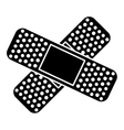 crossed bandages icon image vector image vector image