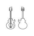 Custom guitar vector image