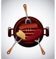 delicious barbecue barbeque vector image