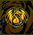 dragon esports logo design dragon mascot gaming vector image vector image