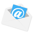 email concept envelope with shadow on white vector image