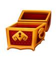empty golden chest vector image vector image