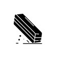 eraser black icon sign on isolated vector image vector image