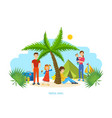 family trip to warm country common recreation vector image vector image