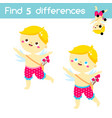 find differences educational children game vector image vector image