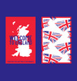 flag england united kingdom with brush stroke vector image