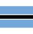Flag of Botswana vector image vector image