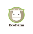 flat modern minimalistic cow logo Farm vector image vector image
