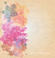 Floral and ornamental item background vector image vector image