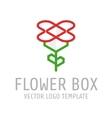 Flower box logo vector image