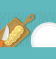 fruits cooking icons flat image design vector image vector image
