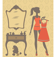 Girl dressing vector | Price: 1 Credit (USD $1)