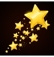 gold star black background design vector image