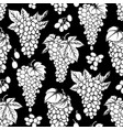 graphic seamless pattern of grapes bunches vector image vector image