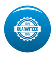 guaranteed logo simple style vector image