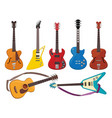 guitars music sound plays instruments classical vector image vector image