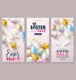 happy easter sale set cardsbeautiful vector image