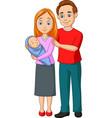 happy family cartoon vector image vector image