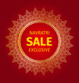 happy navratri mandala design background vector image