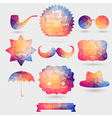 Hipster background made of geometric pattern Retro vector image vector image