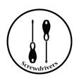 Icon of screwdriver vector image