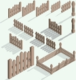 isometric fence vector image vector image