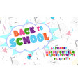 latin alphabet - badge back to school trend font vector image vector image