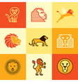 leo logo icons vector image vector image