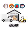 logistic and transportation design vector image