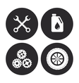Machine icon set Auto part design graphic vector image vector image