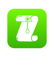 manuscript and seal message icon green vector image