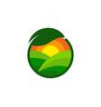 nature farm logo icon design vector image