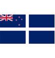 new zealand yacht squardon ensign vector image vector image