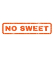 No Sweet Rubber Stamp vector image vector image