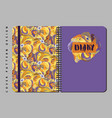 notebook and diary cover design for print with vector image vector image