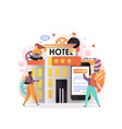 online hotel booking concept for web banner vector image