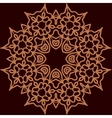 Ornament rosette symmetrical tempalte for adult vector image vector image