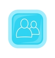 People Icon In Flat Style Design vector image