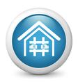 Prison glossy icon vector image vector image
