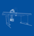 rail-mounted gantry container crane outline vector image