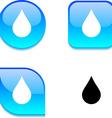 Rain glossy button vector image vector image