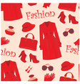 seamless fashion pattern vector image vector image