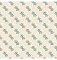 Seamless vintage pattern with colorful flowers vector image vector image