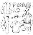 set clothes for men vector image